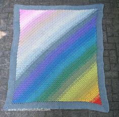 spectrum c2c blanket - free crochet pattern