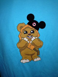 2013 Disney Star Wars Weekend wicket ewok endor t shirt mouse ears hat