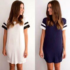 DRESS BUNDLE - GAME ON SHIFT NAVY & WHITE