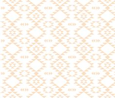 Navajo - Coral fabric by kimsa on Spoonflower - custom fabric