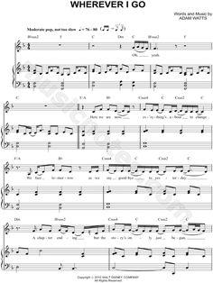 Wherever I Go sheet music by Hannah Montana