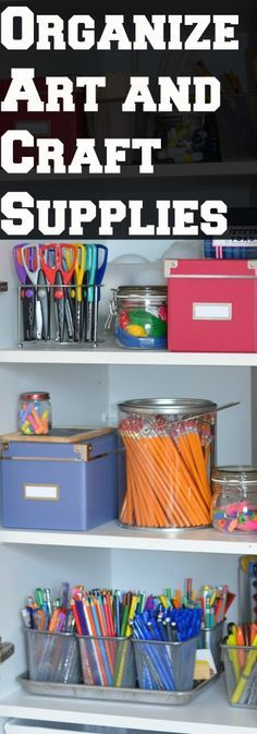 'The Organized Homeschool Challenge: Art and Craft Supplies...!' (via onlypassionatecuriosity.com)