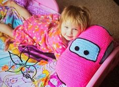 Crocheted Car Pillow Pal/ advanced / FREE CROCHET pattern for your toddler