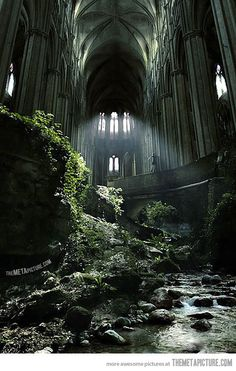 A famous spot in France, St Etienne abandoned church…via Stonefinder