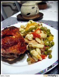 Zeleninové kuře s noky