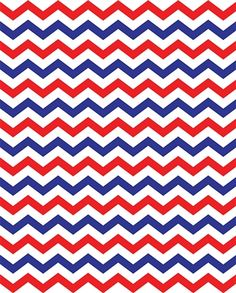 NEW Red White Blue Chevron Printed Backdrop From Express Your Perfect Patriotic