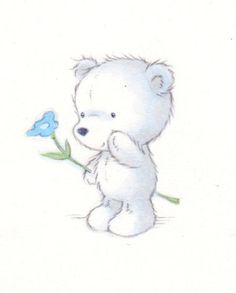 Annabel Spenceley - bear_blue_flower.jpg