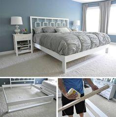 weisses Bett selber bauen anleitung diy