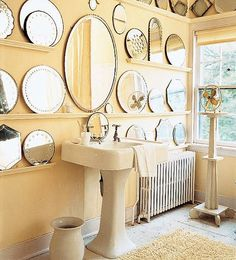 10 Ways to Create a Wall of Mirrors....love, love, love this look!