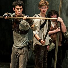 Thomas, Newt, and Chuck. LOVE THIS PIC FOR SOMEREASON...OH YEAH IT'S THOMAS AND NEWT! :p