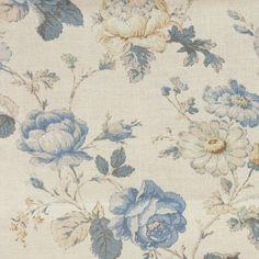 Warwick Chantilly Fabric - Delft - CHANTILLY_DELFT