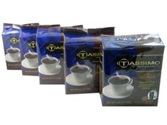 Tassimo T-Discs: Gevalia Signature Blend Decaf. Coffee T-Discs Pods (Case of 5 packages