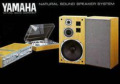 NATURAL SOUND COMPONENT Yamaha Speakers, Yamaha Audio, Vintage Market, Vintage Ads, Sound Speaker, Antique Radio, Vintage Records, Audio Equipment, Anna