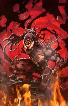 Absolute Carnage by Skan - Marvel Comics. Venom Comics, Marvel Venom, Marvel Villains, Marvel Comics Art, Marvel Characters, Marvel Heroes, Flash Comics, Comic Art, Comic Books