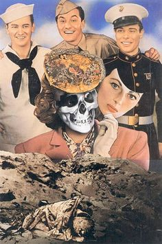 """collectivehistory: """"Oh, how beautiful war is!"""" Collage by Josep Renau, 1957"""
