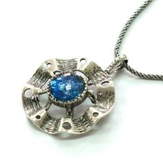 Roman Glass Unique Fantasy Necklace 925 Silver by MichalDesigns, $83.00