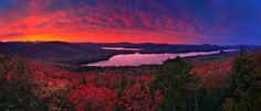 Favorite Photographer: Johnathan Esper: The treetop,  Lake Pleasant (favorite place) ,fiery,red,sunset,Sacandaga Lake,Dunham Mt,  http://www.wildernessphotographs.com/photo.php?id=1057=adirondackpark#