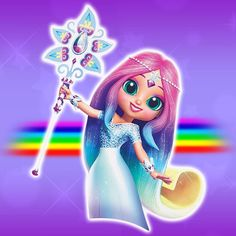 Doll Original version with alternate colors Teenie Genies figure Teenie Genies color change figure Shimmer And Shine Characters, Unicorn Wallpaper Cute, Rainbow Waterfall, My Little Pony Dolls, Teal Eyes, Pearl Headpiece, Light Blue Dresses, Shimmer N Shine, Rainbow Hair