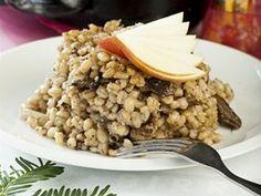 Staročeský kuba Risotto, Vegetarian Recipes, Oatmeal, Good Food, Menu, Breakfast, Ethnic Recipes, The Oatmeal, Menu Board Design