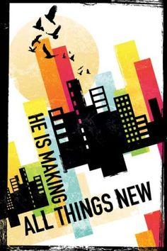 he is making all things new revelation christian inspirational poster slingshot