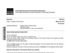 Biology (0610) - Google Drive Igcse Biology, Past Exams, I Gen, Multiple Choice, Terms Of Service, Economics, Assessment, Google Drive, Writing