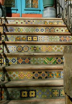 Tile stairs in Park Slope, Brooklyn, NY