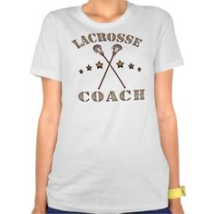 Lacrosse Coach Steampunk Ladies Tee. To see many more sports t-shirts, please check out my store: http://www.zazzle.com/gamefacegear*/ #GameFaceGear  #LacrosseCoach