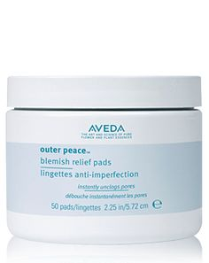 Outer Peace™ Blemish Relief Pads - gentle exfoliation Find out more at Aveda.co.uk