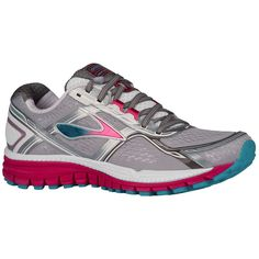 Brooks Women's Ghost 8 Metallic Charcoal/Bright Rose/Blue Bird Running Shoe 6.5 #Brooks #RunningCrossTraining