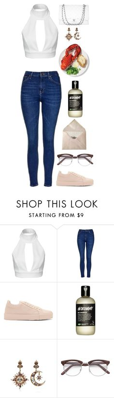 """""""Unbenannt #2529"""" by avonearth ❤ liked on Polyvore featuring AQ/AQ, Topshop, Jil Sander, Diego Percossi Papi and Chanel"""