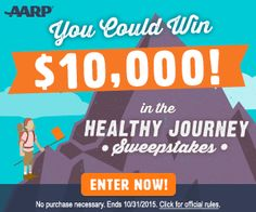 Enter the AARP Healty Journey Sweepstakes For Your Chance at $10,000 « Delighted For Deals