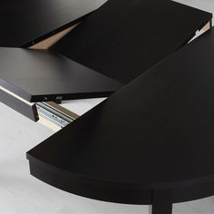 IKEA - BJURSTA, Extendable table, One extension leaf included. Bjursta Table, Extendable Dining Table, 54 Kg, Table Extensible, Under The Table, Table Sizes, Particle Board, Room Set, Traditional House