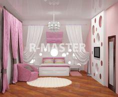 Дизайн детской для девочек | Студия ремонта R-MASTER Москва