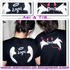 เสื้อคู่ เสื้อคู่รัก โปโล Angel&Devil - http://www.lovercorner.com/polo/angel_devil.php