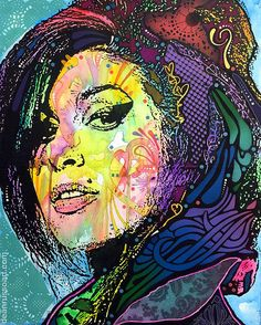 Amy Winehouse Back To Blue Painting by Dean Russo