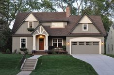 Cottage Tudor (Exterior Siding: Pratt And Lambert#12 24 Light Stone Exterior.  Exterior Paint IdeasExterior House ...