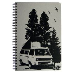 Gone Camping : Journal / Notebook / Sketchbook / Dayplanner. $14.00, via Etsy.