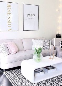 Lounge room. Love the soft colours - not so much the art..