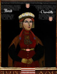 Maud Chaworth (1282 - 1322) She married Henry Plantagenet, 3rd Earl of Lancaster, by whom she had seven children including Eleanor, Countess of Arundel and Joan who married John, 3rd Baron Mowbray. Description from pinterest.com. I searched for this on bing.com/images