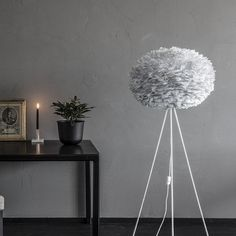 Authentic Feather Vita Eos Pendant Shade - Beautiful in any room in your home https://www.sweetpeaandwillow.com/lighting-mirrors/chandeliers/authentic-feather-vita-eos-pendant-shade-medium-grey