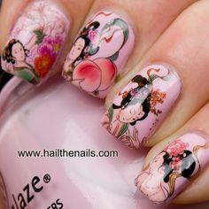 Geisha Girls Nail Art Water Transfer Decal by Hailthenails on Etsy, £1.99