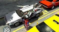 "Grand Theft Auto goes ""Back to the Future"" with DeLorean mod."