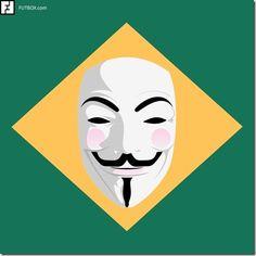 A bandeira do Brasil amanheceu assim! Brazil Protests, The 5th Of November, Banksy, E Design, Graffiti, Street Art, Batman, Symbols, Cartoon