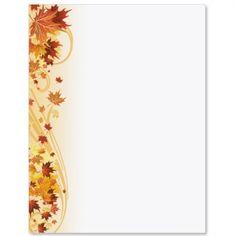 Lofty Leaves Letter Paper