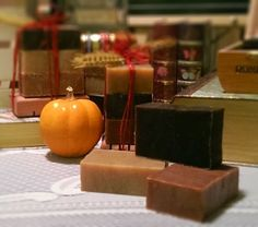 I made these Seasonal Soap Bundles for the upcoming Oktoberfest Indian Rocks Beach this Saturday, Oct 11. Pumpkin Spice, Cranberry Spice and Island Spice