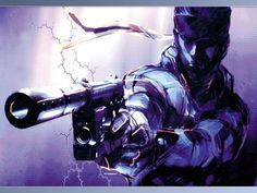 Solid snake from metal gear solid.