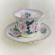 Vintage Tea Cup and Saucer /ROYAL by HoneyandBumble on Etsy