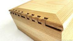 Wooden Hinged Handgun Box {THE SAWDUST MAKER}