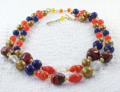 Vintage Double Strand Japan Glass Bead by SultanaVintageJewels