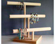 Regarder Organisateur & Bracelet Stand, Hair Bow Holder de la jeune fille doux bandeau, Foire de l'artisanat couleurs d'affichage, Rack de stockage collier de chien, unisexe, personnalisé